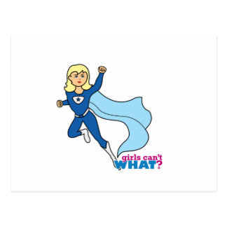 Super héroe - luz Blonde Tarjetas Postales