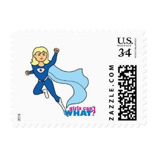 Super héroe - luz/Blonde Timbres Postales