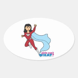 Super héroe - medio colcomanias de oval