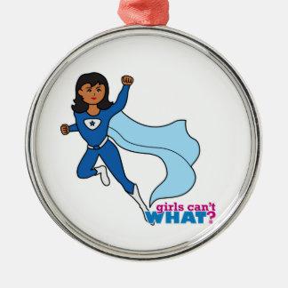 Super héroe - oscuridad ornamento de navidad