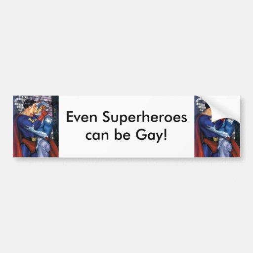 super héroe pegatina de parachoque