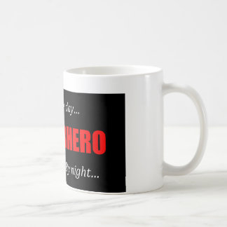 Super héroe Pipefitter Taza Básica Blanca