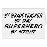 Super héroe por la noche - 3ro grado tarjeta