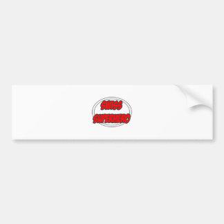 Super héroe suizo etiqueta de parachoque
