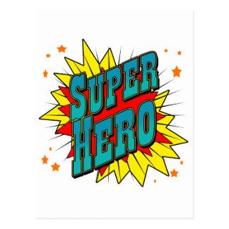 Super héroe tarjeta postal