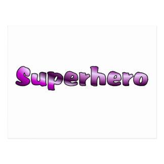 Super héroe tarjetas postales