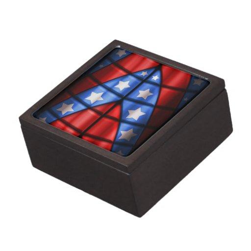 Super héroes - azules, rojo, estrellas del blanco caja de regalo de calidad
