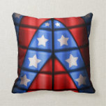 Super héroes - azules, rojo, estrellas del blanco almohada