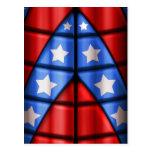 Super héroes - azules, rojo, estrellas del blanco tarjetas postales