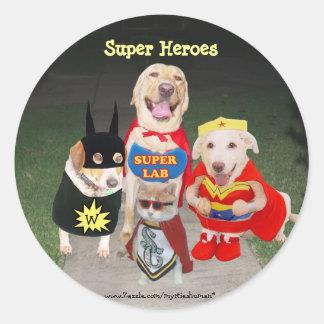 Super Heroes Classic Round Sticker