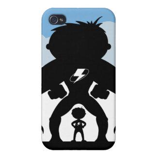 Super héroes en caso del iphone 4 de la silueta iPhone 4 protectores