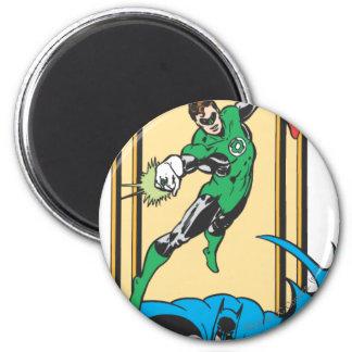 Super héroes en la acción imán redondo 5 cm