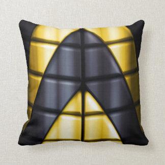 Super héroes - negro y amarillo almohada