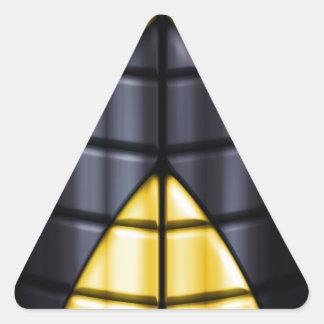 Super héroes - negro y amarillo colcomanias trianguladas personalizadas