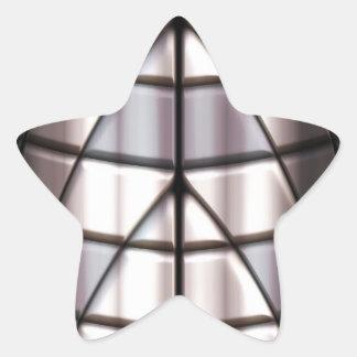 Super héroes - plata calcomania forma de estrella personalizadas