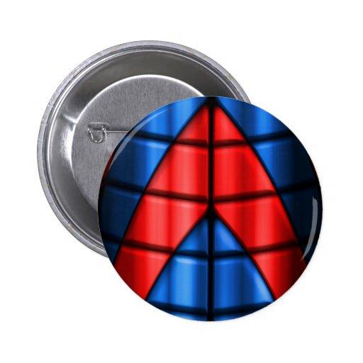 Super héroes - rojo y azul pin redondo de 2 pulgadas
