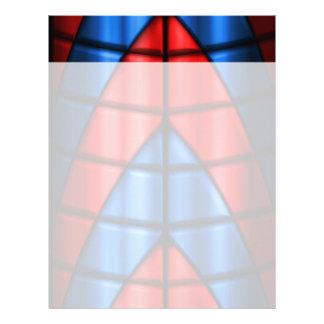 Super héroes - rojo y azul plantillas de membrete