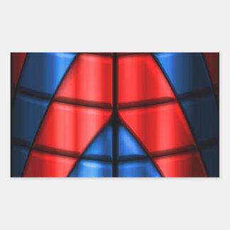 Super héroes - rojo y azul rectangular altavoces
