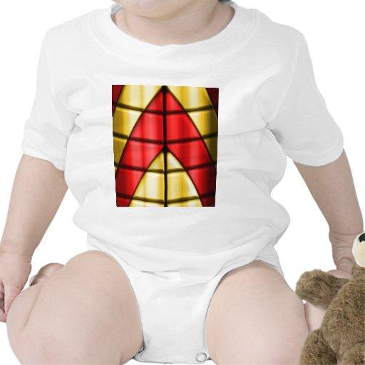 Super héroes - rojo y oro trajes de bebé