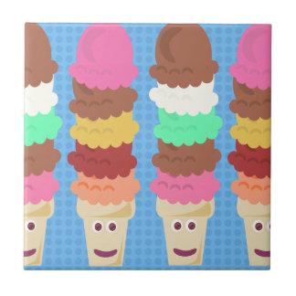 Super High Cute Ice Cream Cones Ceramic Tile
