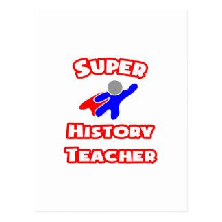 Super History Teacher Postcard