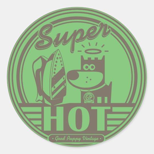 SUPER HOT CLASSIC ROUND STICKER