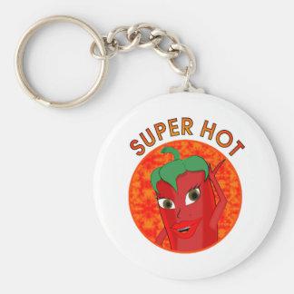 Super Hot Pepper Diva Keychain