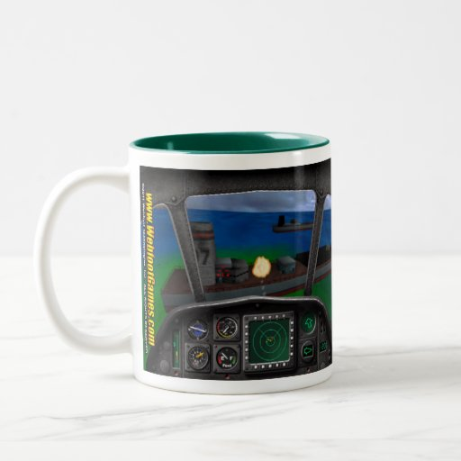 Super Huey 3 Retro Mug - Sea Battle