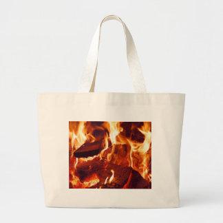 Super Intense Red Flames Jumbo Tote Bag