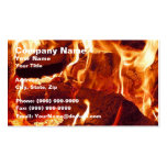 Super Intense Red Flames Business Card