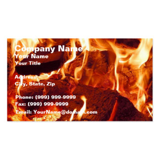Super Intense Red Flames Business Card Templates