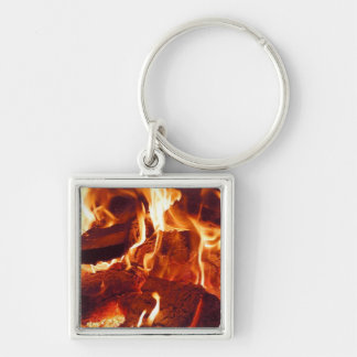 Super Intense Red Flames Keychain