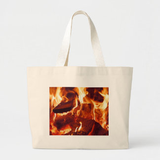 Super Intense Red Flames Large Tote Bag