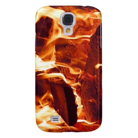 Super Intense Red Flames Samsung Galaxy S4 Cover