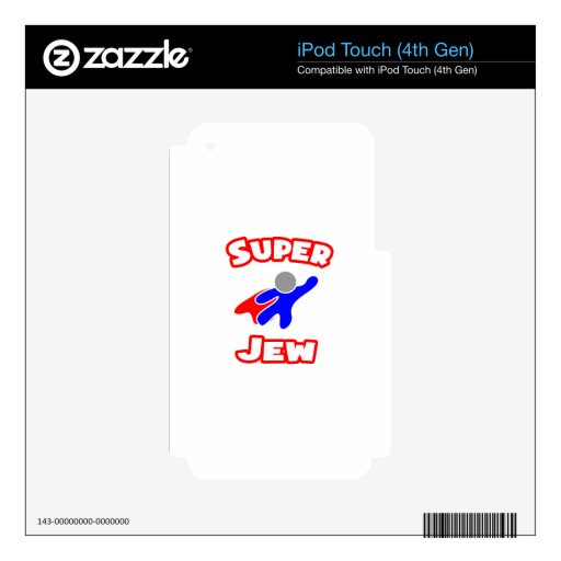 Super Jew iPod Touch 4G Decals