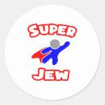 Super Jew Round Stickers