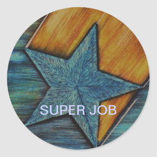 SUPER JOB CLASSIC ROUND STICKER
