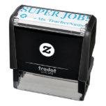 "[ Thumbnail: ""Super Job!"" + Custom Teacher Name Self-Inking Stamp ]"