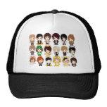 Super Junior (Cartoon Wallpaper )(big) Mesh Hats