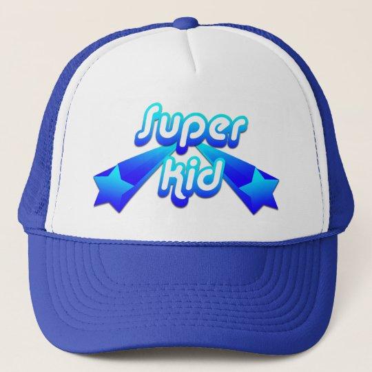 Super Kid Blue Trucker Hat