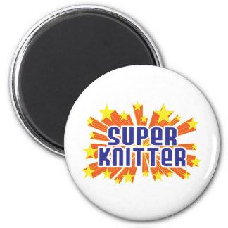 Super Knitter 2 Inch Round Magnet