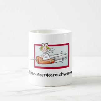 Super Krankenschwester - Humorous Cartoon Nurse Coffee Mug