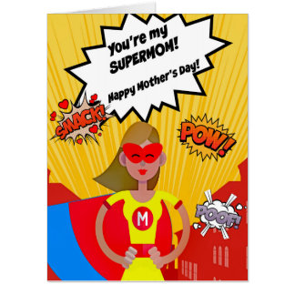 Super LARGE Supermom Mother's Day Card