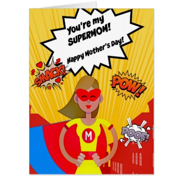 frankiesdaughter Super LARGE Supermom Mother's Day Card