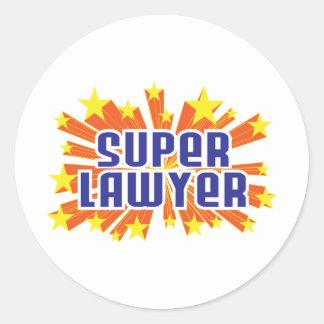 Super Lawyer Classic Round Sticker