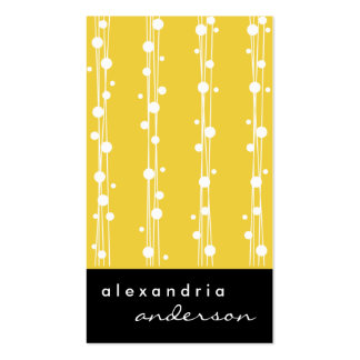 Super Lemon Stylish Dots and Straw Business Cards