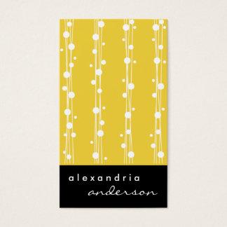 Super Lemon Stylish Dots and Straw Business Cards