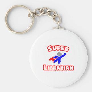 Super Librarian Basic Round Button Keychain