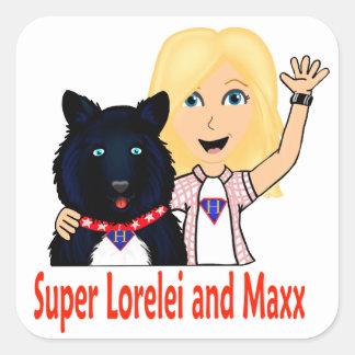 Super Lorelei and Maxx Square Sticker