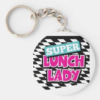 Super Lunch Lady Retro Basic Round Button Keychain